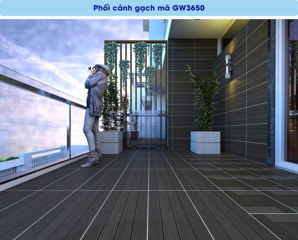 phoi canh gach men op tuong viglacera GW3650 kho 30x60
