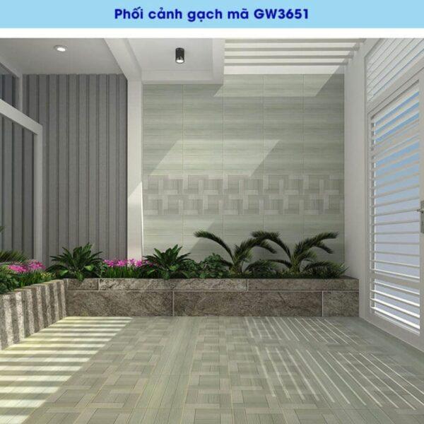 phoi canh gach men op tuong viglacera GW3651 kho 30x60