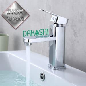 Voi chau rua lavabo inox sus304 sieu bong Dakoshi DF203 chat luong Japan
